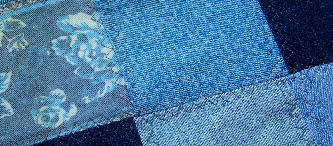 Крейзи из джинсы, лоскутное шитье