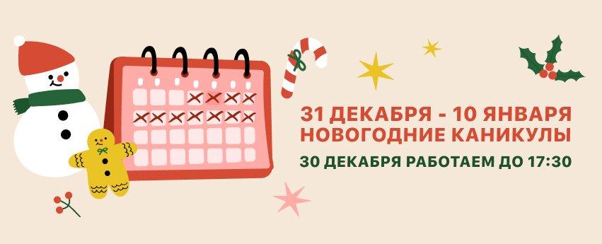 новогодние каникулы в интернет магазине Немолоток