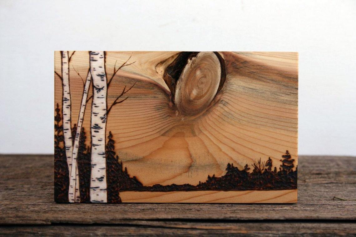 выжигание по дереву - порода тис